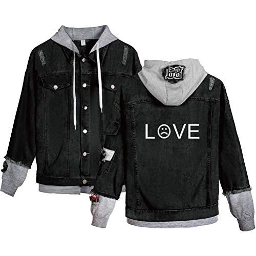 XdsyLil Peep Modetrend Damen Jeansjacke Hoodie,black11,XL