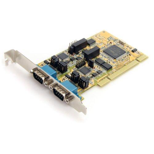 StarTech.com 2 Port RS232/422/485 Seriell PCI Schnittstellenkarte mit ESD-Schutz