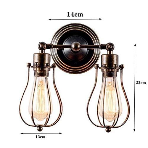 Wandlamp wandlamp glazen spiegel voorlicht wandverlichting retro industrieel stopcontact vintage wandlamp landhuis wandlamp kooi met 1 exemplaar