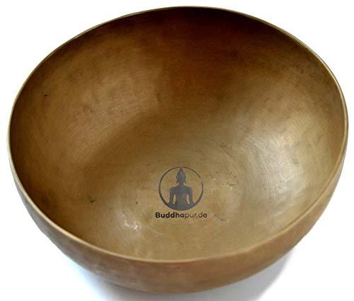 BUDDHAFIGUREN/Billy Held Tybetańska misa dźwiękowa z akcesoriami, metal, Khobre 450 g - 500 g