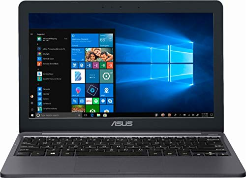 "Asus Vivobook E203MA Thin and Lightweight 11.6"" HD Laptop, Intel Celeron N4000 Processor, 4GB RAM, 64GB eMMC Storage, 802.11AC Wi-Fi, HDMI, USB-C, Win 10"