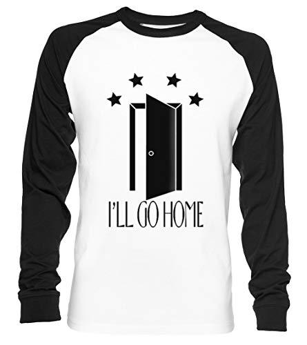 Ill Go Home Pocket Open Door - Everyday Shane Dawson Discounted Unisex Camiseta De Béisbol Manga Larga Hombre Mujer Blanca Negra
