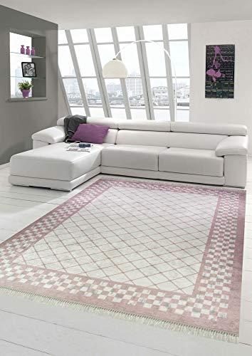 Alfombra Sala de Estar Lavable teppich de impresión en Rosa Größe 80x150 cm