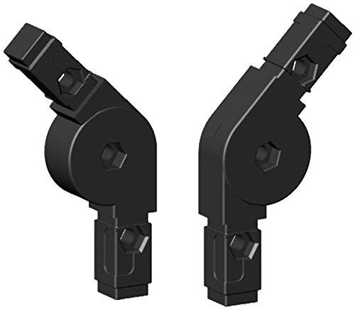 Winkel Gelenkverbinder 0 - 220° für 20x20x1,5mm Aluminiumprofil - Kunststoff schwarz