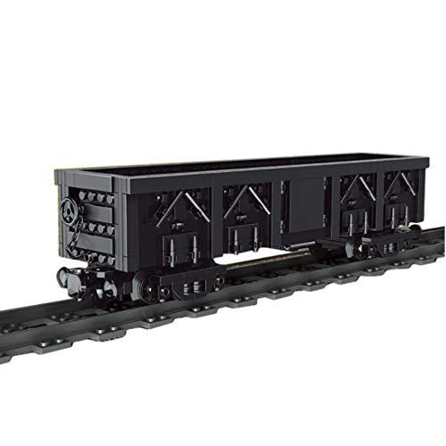 AMITAS Technik Zug Waggon 608 Teile Technik Zug Zubehör Dampflokomotive Waggon Kompatibel mit Lego Technik