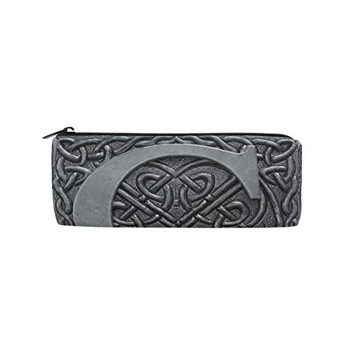 Federmappe Tasche Vintage Grau 3D Grafik Buchstabe C Reißverschluss Tasche Kosmetiktasche