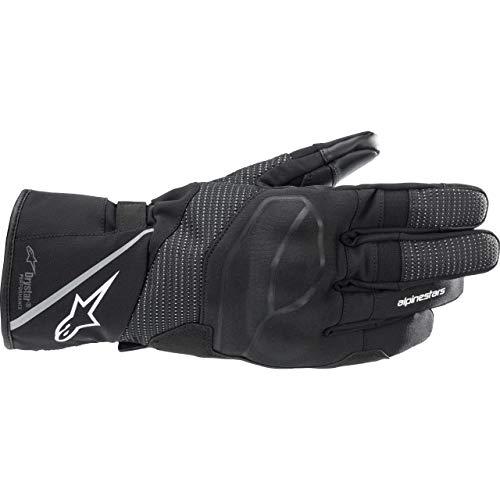 Alpinestars Guantes largos para moto Andes V3 Drystar, guantes largos de moto, color negro, S, unisex, Enduro/Adventure, para todo el año, textil