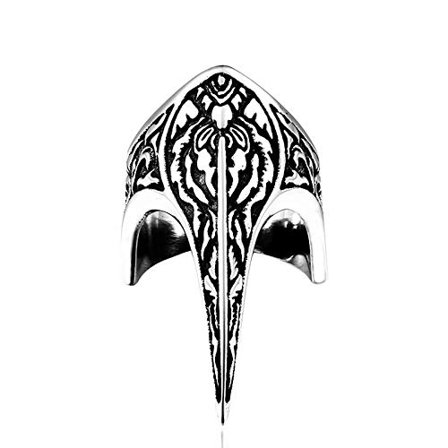 HHW Anillo De Martillo De Viking Thor, Amuleto Nórdico De Acero Inoxidable, Anillo De Armadura Tallado A La Moda para Hombres,12