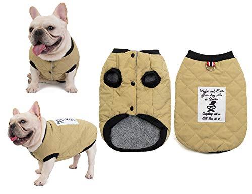 Tineer Pet Soft Giacca Felpata French Bulldog Vestiti Suede Plaid Cotone Addensare Cappotto Giacca - Completo Costume Autunno e Inverno Caldo - per Cani di Piccola Taglia Media (XXL, Verde)