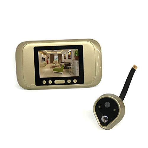DYecHenG Timbre de Video 720 HD Peephole Electronic Smart Wired Video Tim Towell Photo Foto y Video para la Seguridad del Hogar (Color : Gold, Size : One Size)