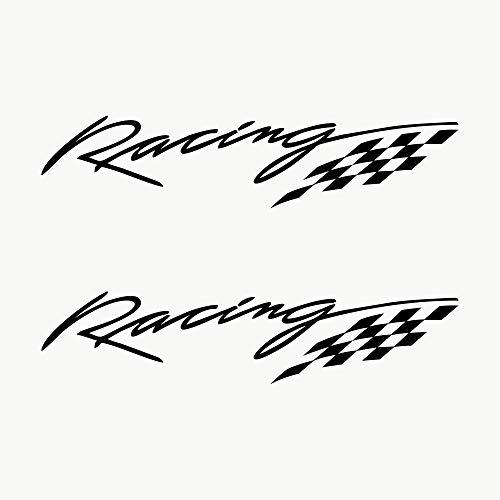 Autodomy Adesivi Racing Sport Tuning JDM OEM Confezione 2 Pezzi per Auto (Nero)