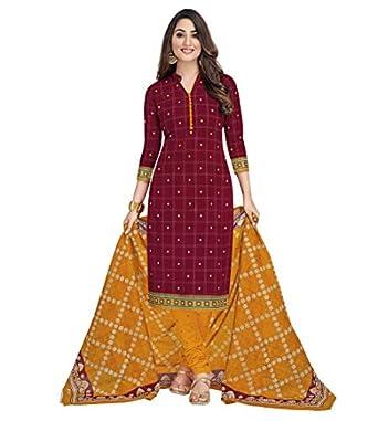 Miraan Cotton Printed Readymade Salwar Suit For Women(MIRAANSGPRI1804, Brown)