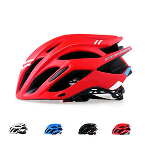 Fiets Helm, Fiets Fietshelm Cairbull fietshelm fietshelm In-Mold MTB Helm Road Mountain Helmen Cap voor Men & Women,Red