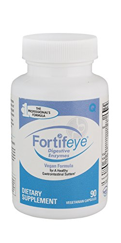 Fortifeye Vitamins Digestive Enzymes with Probiotics, Full Spectrum, Plant Based, Vegan Supplements, Supports Healthy Digestion, 30 Day Supply, 90 Capsules