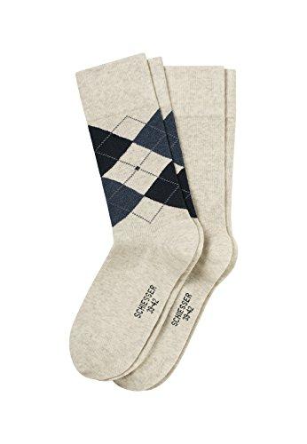 Schiesser Herren Socken 2-Pack Farbe/Größe: beige-mel. 39/42