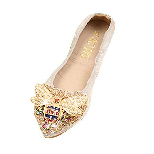 Sandales Femme Ete 2019 Honestyi Chaussures Femme Enceinte Escarpins Fond Mou Sandales Bow Strass Escarpins Respirant Tongs Mode Chic Shoes