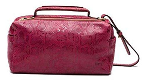 LUPO Bag Máxima Burdeos - Bolso bandolera de piel auténtica (31 x 20 x 14 cm), color burdeos