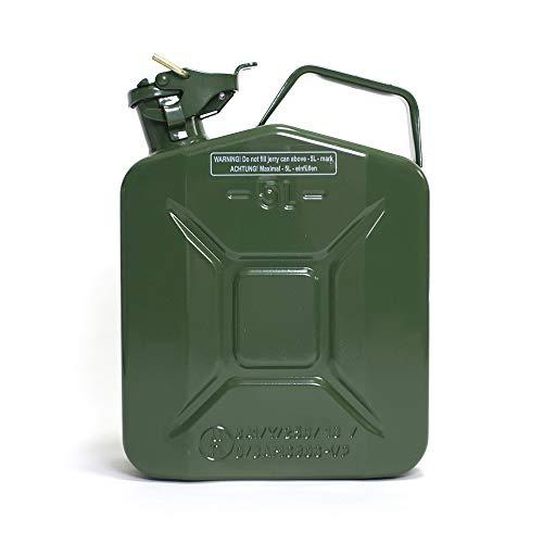 ヒューナースドルフ Hunersdorff 燃料タンク [ 安心の正規品 保証&ステッカー付 ]ポリタンク メタルキャニスター クラッシック 5L ウォータータンク 燃料 ホワイトガソリン 灯油 タンク キャニスター キャンプ (olive)