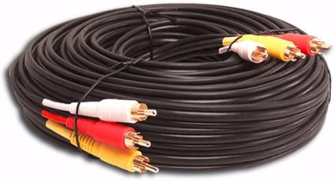 3 RCA Gold Audio Video Composite Cable 20ft