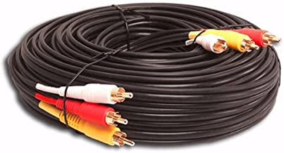 3 Rca Gold Audio Video Composite Cable (25ft)