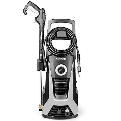 GOLDOROHigh Pressure Washer, 3000PSI 2.6 GPM Electric Power Washer,1800W High Power Cleaner with Metal Barrel Ideal for Fence, Yards, Ground, Cars Cleaning