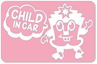 imoninn CHILD in car ステッカー 【マグネットタイプ】 No.65 ハーイさん (ピンク色)