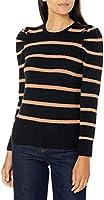Amazon Brand - Lark & Ro Women's Boucle Puff Long Sleeve Crew Neck Sweater