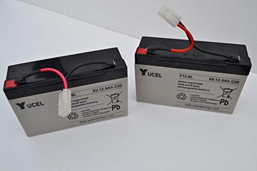 Yuasa Microcat/Microcat HD Bait Boat Batteries - Pair - 6 Volt 12Amps