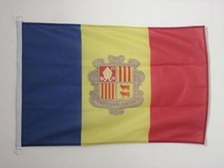 AZ FLAG Bandera de Andorra 90x60cm Uso Exterior - Bandera ANDORRANA 60 x 90 cm Anillos