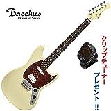 ワンランク上のエントリー・モデル|Bacchus BMS-SH/R OWH (オリンピックホワイト) バッカス・ムスタングタイプ|クリップチューナー・プレゼント中!