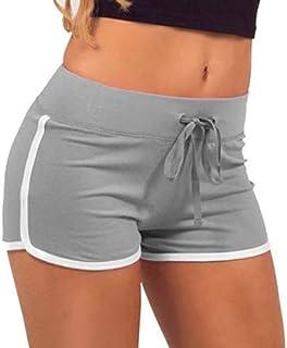 Popular Summer Women Sport Gym Workout Waistband ny Yoga Elastic Shorts Pants Female Loose Big Yard Sport Shorts Yoga Shorts:04, XXL