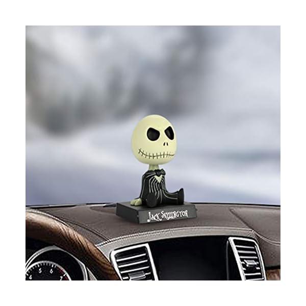 Adornos de coche PVC Jack Esqueleto Figura de acción Shaking Head Doll Dashboard Decoración La Pesadilla Antes de… 4
