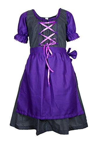 MS-Trachten MS-Trachten Kinder Dirndl Tracht Trachtenkleid Claudia (128, lila)