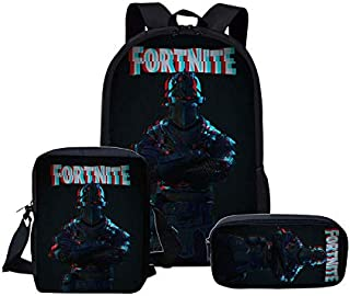 Frtnite Backpack School Bag for Girls Boys Students Laptop Bag Casual Travel Daypack Bookbag School Backpacks Set