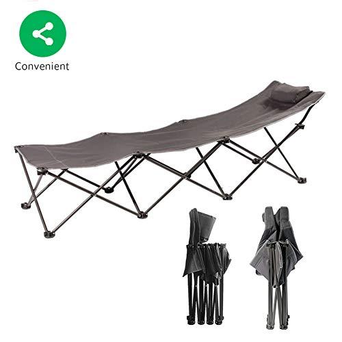 BSFYUK Camping Lits pour Adultes, hôpital de Bureau lit imperméable Pliable Soldat Portable alitement Contraction Peut Supporter 200ID Taille est (74 * 23 po)