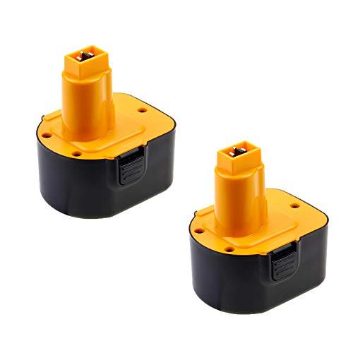 2 Paquete Powayup Reemplazo para Dewalt 12V 3.0Ah baterías DW9071 DW9072 DC9071 DE9037 DE9071 DE9072 DE9074 DE9075 152250-27 397745-01