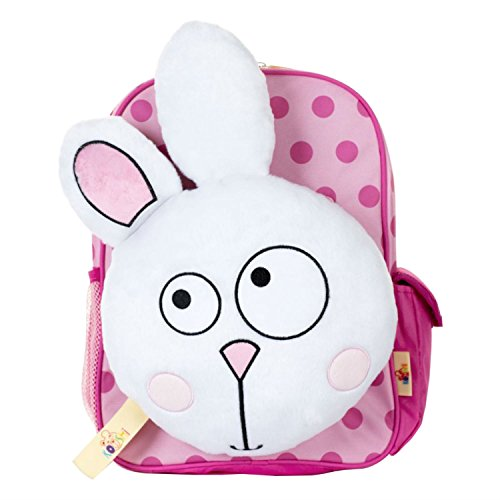 Kooshi Children's Backpack with Removable Travel Cushion - Luna the bunny
