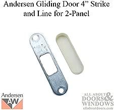 Andersen Perma-Shield Metal 4 Inch Gliding Door Strike and Liner for 2 Panel Door