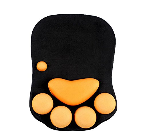Intsun Cat Paw Mouse Pad with Mouse Support Non Slip Ergonomic Mousepad Soft Silicone Wrist Rest Mouse Pad for Office Computer Gaming