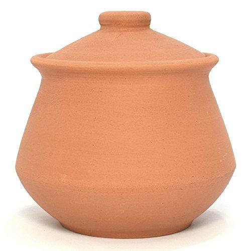 Ancient Cookware Indian Clay Yogurt Pot, Large