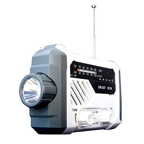 多機能防災ラジオ 充電式 手回しラジオ 手回し ラジオ 懐中電灯 スタンドライト ソーラー充電 スマホ充電 LEDライト 乾電池 FM/AMラジオ サイレン 非常用 緊急用 [XG754]