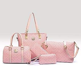 5-Piece Classic Tote Bag Set -Pink