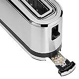 WMF Küchenminis Langschlitz-Toaster, integrierter Brötchenwärmer, cromargan matt, silber - 5