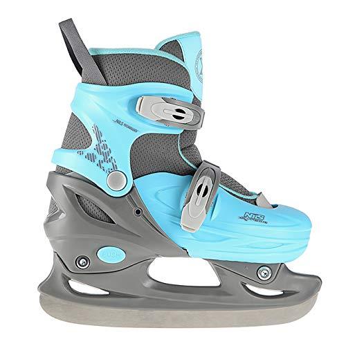 NILS Eiskunstlauf Schlittschuhe verstellbar für Kinder NH11901 A (Blau, M)