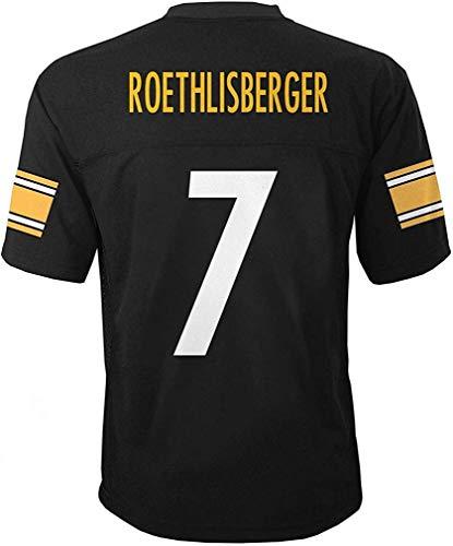 Ben Roethlisberger Pittsburgh Steelers #7 Black Kids Mid Tier Home Jersey (Kids 5/6)
