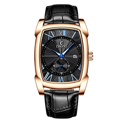AMZSELLER Reloj Reloj al por Mayor Tabla de Cuarzo Cuadrado Reloj Cuadrado Hombre a Prueba de Agua Reloj no mecánico (Color : 4)