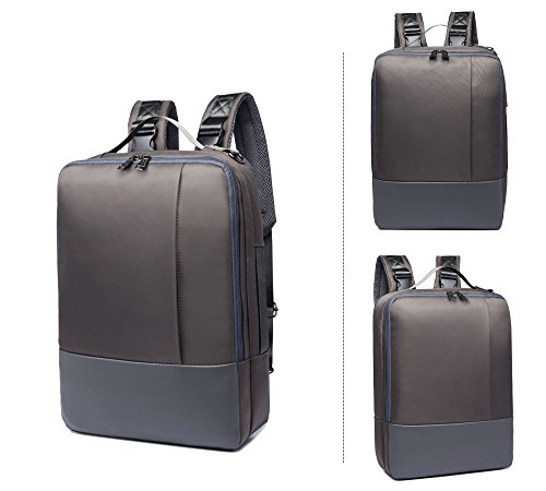 Premium Nylon Laptop Backpack Briefcase Messenger Bag for Lenovo ThinkPad P50 / P51 / P50s / Lenovo Legion Y720 / Y520 / Yoga 710 / Lenovo Flex 5 15' / Lenovo IdeaPad 320 15' Laptops Grey Size: XL