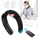 OSITO Intelligent Neck Massager with Heat,Electric Neck Massager for Pain Relief,9 Modes 50 Intensities Cordless Portable Deep Tissue Trigger Massage Equipment in Home Office Car Travel