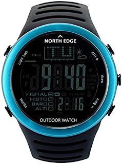 Songlin@yuan  720 Men's Fashion Professional Outdoor Sports Watch, Waterproof Fishing Hiking Hiking Smart Digital Watch, Support Barometer and Thermometer Fashion (Color : Blue)