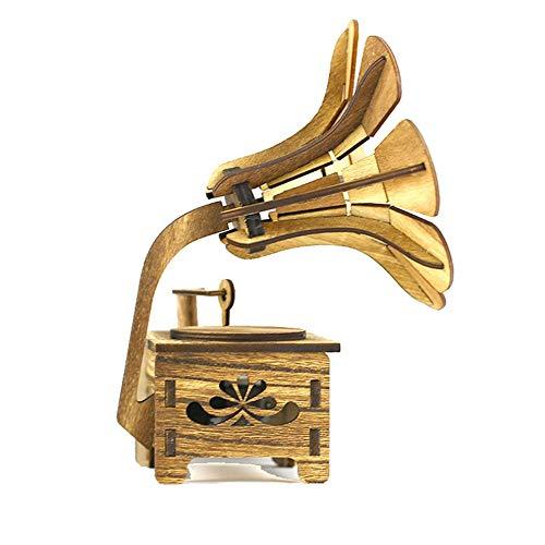 Greatangle-UK Carillon a Forma di grammofono retrò Vintage Romantico Tipo a manovella Regalo Colore...